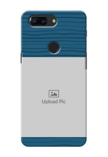 One Plus 5T Blue Pattern Mobile Case Design
