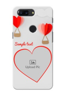 One Plus 5T Love Abstract Mobile Case Design