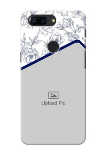 One Plus 5T Floral Design Mobile Cover Design