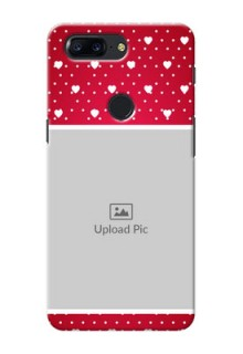 One Plus 5T Beautiful Hearts Mobile Case Design