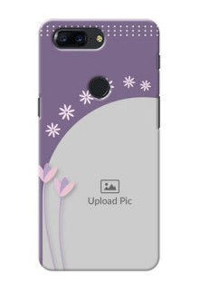 One Plus 5T lavender background with flower sprinkles Design