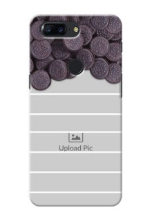 One Plus 5T oreo biscuit pattern with white stripes Design Design
