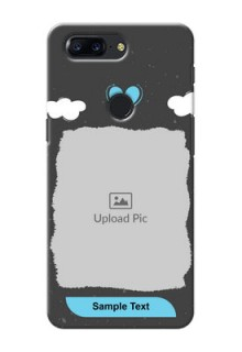 One Plus 5T splashes backdrop with love doodles Design