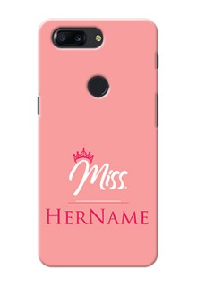 One Plus 5T Custom Phone Case Mrs with Name