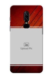 One Plus 6 Leather Design Picture Upload Mobile Case Design