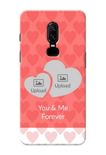 One Plus 6 Couples Picture Upload Mobile Cover Design