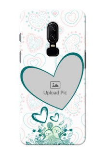 One Plus 6 Couples Picture Upload Mobile Case Design