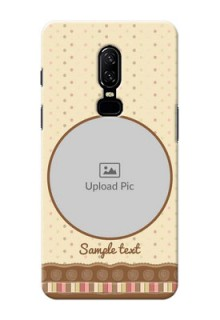 One Plus 6 Brown Abstract Mobile Case Design