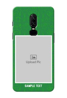 One Plus 6 Multiple Picture Upload Mobile Back Cover Design