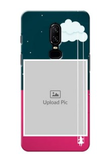 One Plus 6 Cute Girl Abstract Mobile Case Design