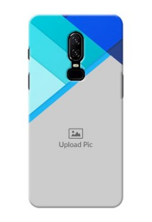 One Plus 6 Blue Abstract Mobile Cover Design