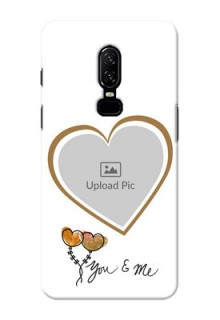 One Plus 6 You And Me Mobile Back Case Design