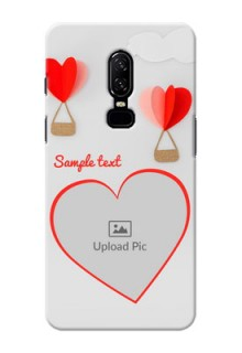 One Plus 6 Love Abstract Mobile Case Design