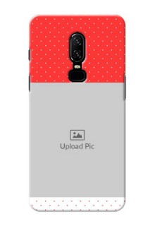 One Plus 6 Red Pattern Mobile Case Design