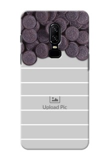 One Plus 6 oreo biscuit pattern with white stripes Design Design