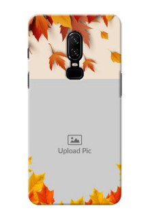 One Plus 6 autumn maple leaves backdrop Design