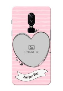 One Plus 6 seamless stripes with vintage heart shape Design
