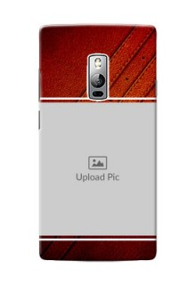 OnePlus 2 Leather Design Picture Upload Mobile Case Design