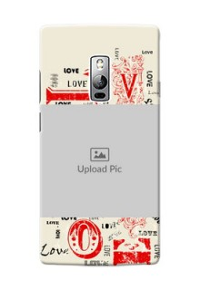 OnePlus 2 Lovers Picture Upload Mobile Case Design