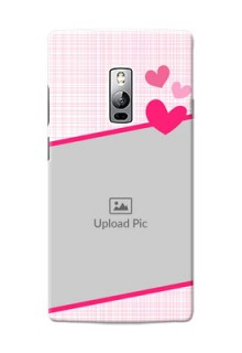 OnePlus 2 Pink Design With Pattern Mobile Cover Design