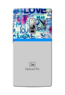 OnePlus 2 Colourful Love Patterns Mobile Case Design