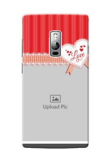 OnePlus 2 Red Pattern Mobile Cover Design