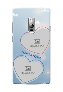 OnePlus 2 couple heart frames with sky backdrop Design