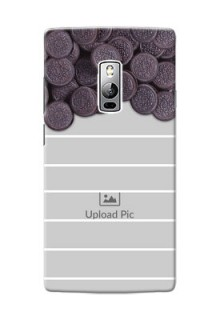 OnePlus 2 oreo biscuit pattern with white stripes Design Design