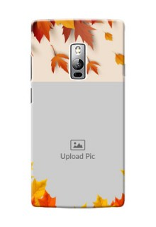 OnePlus 2 autumn maple leaves backdrop Design