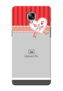 OnePlus 3 Red Pattern Mobile Cover Design