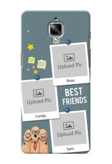 OnePlus 3 3 image holder with sticky frames and friendship day wishes Design