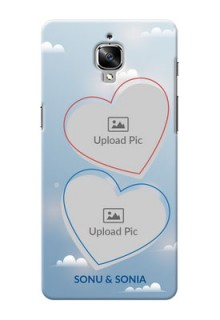 OnePlus 3 couple heart frames with sky backdrop Design