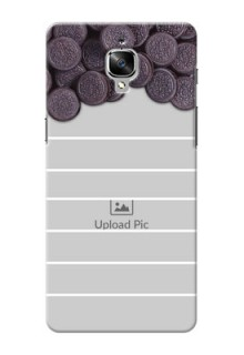 OnePlus 3 oreo biscuit pattern with white stripes Design Design