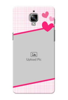 OnePlus 3T Pink Design With Pattern Mobile Cover Design