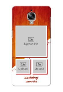 OnePlus 3T Wedding Memories Mobile Cover Design