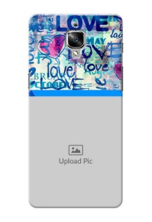 OnePlus 3T Colourful Love Patterns Mobile Case Design
