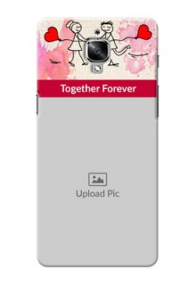 OnePlus 3T Just You And Me Mobile Back Case Design