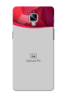 OnePlus 3T Red Abstract Mobile Case Design