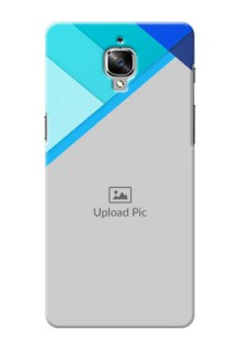 OnePlus 3T Blue Abstract Mobile Cover Design