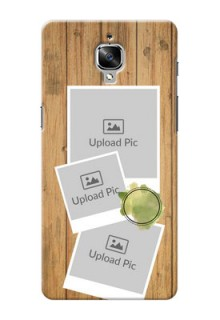 OnePlus 3T 3 image holder with wooden texture  Design