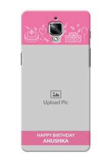 OnePlus 3T plain birthday line arts Design Design