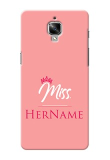 Oneplus 3T Custom Phone Case Mrs with Name