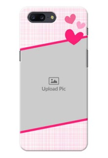 OnePlus 5 Pink Design With Pattern Mobile Cover Design