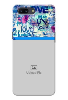 OnePlus 5 Colourful Love Patterns Mobile Case Design