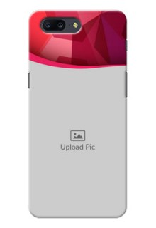 OnePlus 5 Red Abstract Mobile Case Design