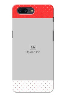 OnePlus 5 Red Pattern Mobile Case Design