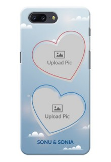 OnePlus 5 couple heart frames with sky backdrop Design