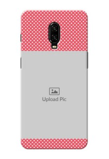 Oneplus 6T Custom Mobile Case with White Dotted Design