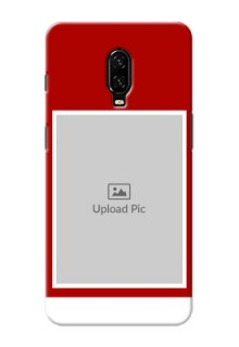 Oneplus 6T mobile phone covers: Simple Red Color Design