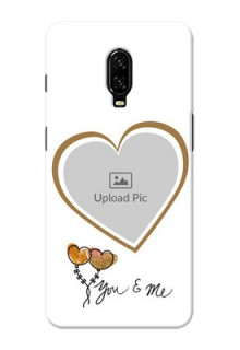 Oneplus 6T customized phone cases: You & Me Design